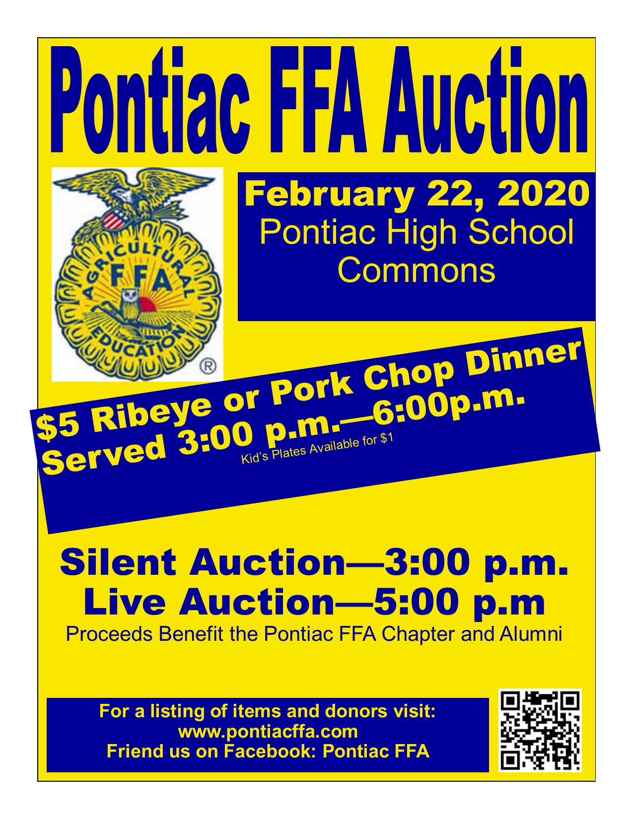 2020 Auction Flyer